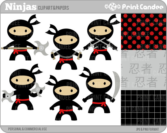 Back   Pix For   Ninja Kids Clip Art