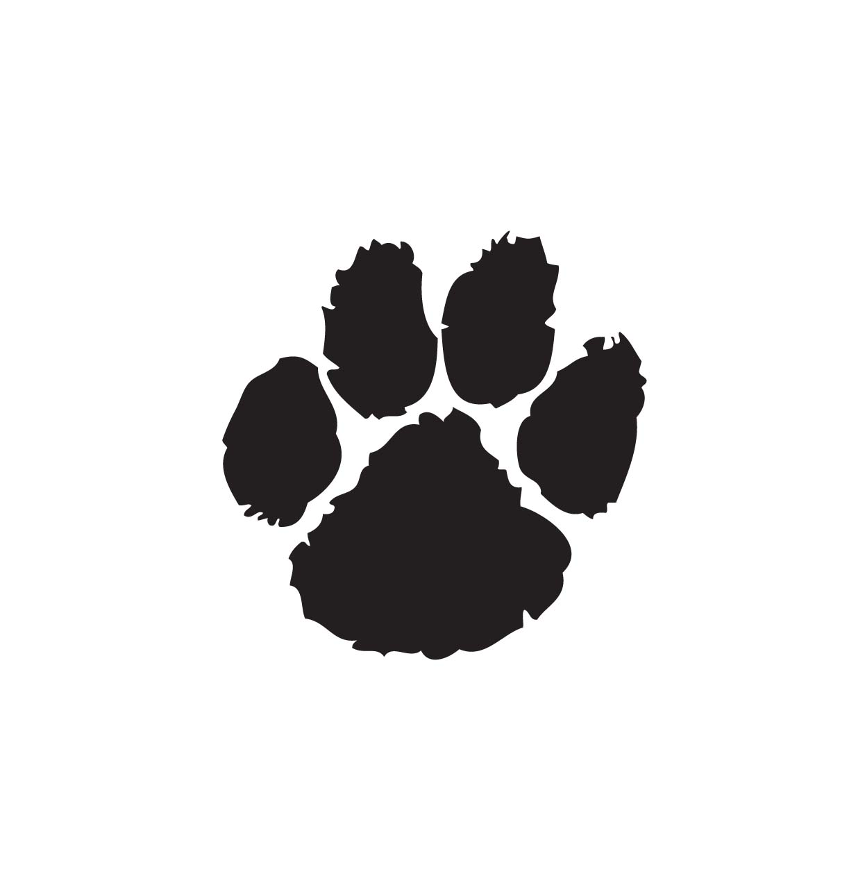Clip Art Free Paw Print Clip Art paw print black and white clipart kid bobcat clip art cliparts co