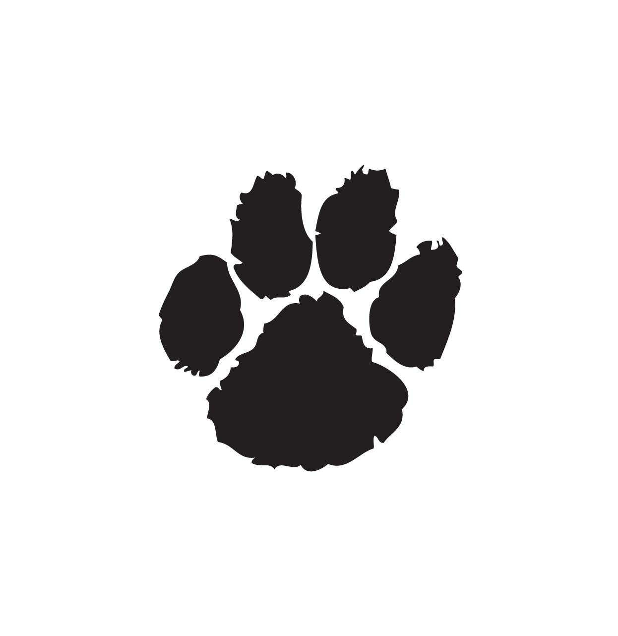 Bobcat Paw Print Clip Art   Cliparts Co