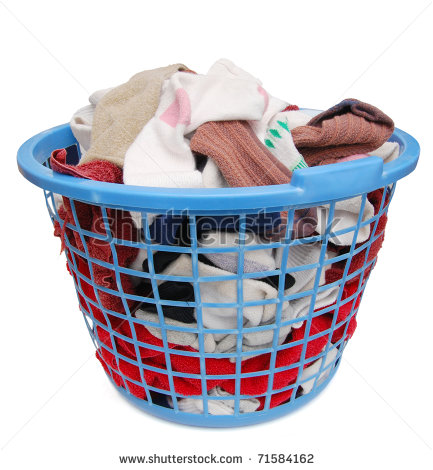 Clothes Hamper Clipart A Laundry Basket On Home Care