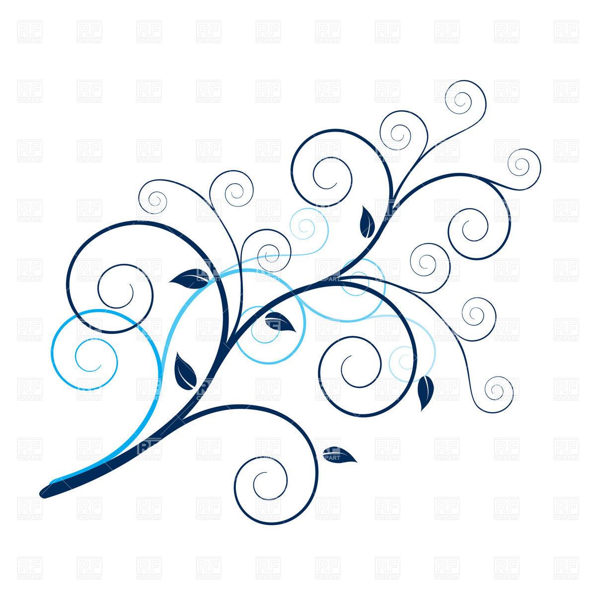 Curly Plant Twig   Design Element 8499 Design Elements Download