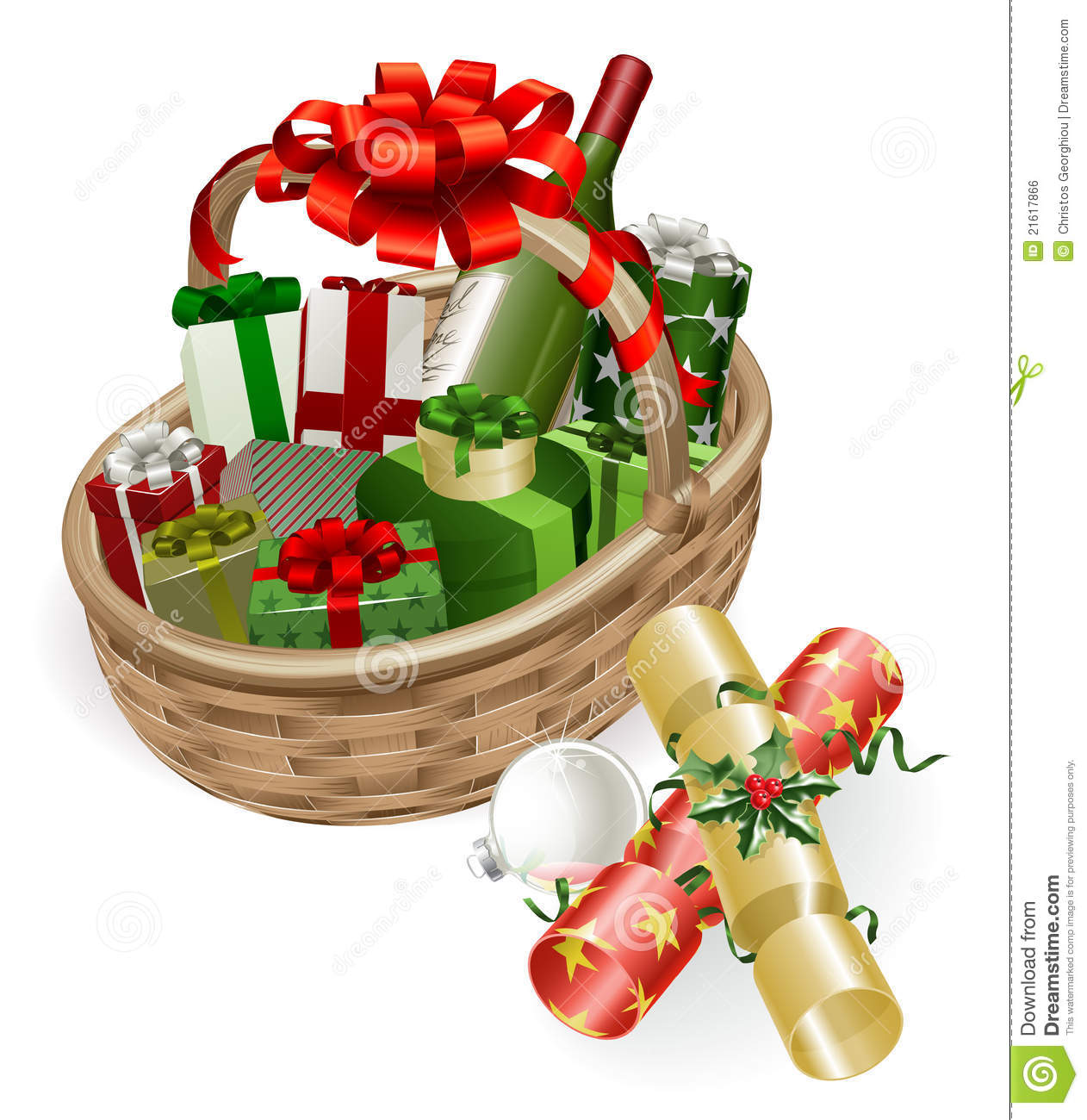 Displaying 18  Images For   Christmas Gift Basket Clip Art