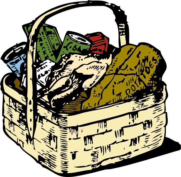 Food Basket Clip Art At Clker Com   Vector Clip Art Online Royalty