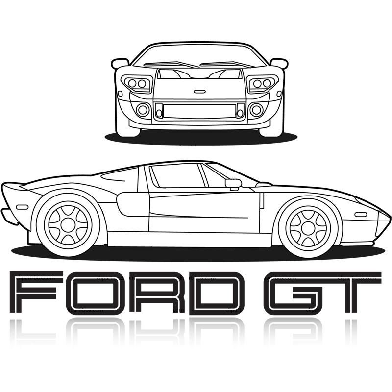 Ford Clipart Clipart Ford Gt Blueprint