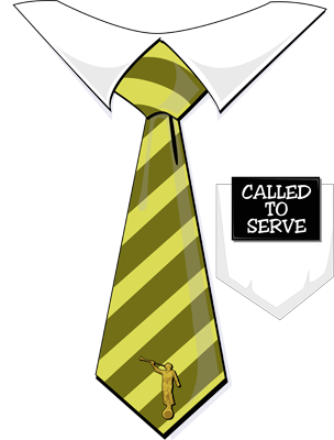Latter Day Clip Art   Called To Serve Missionary Tag Yellow Tie