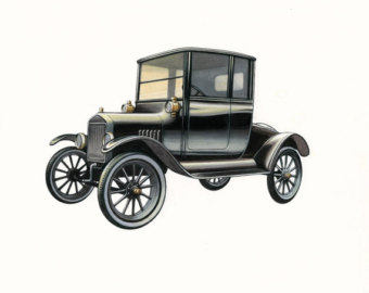 Model T Ford Clipart Artwork Of Ford Model T