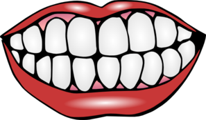 Mouth And Teeth Clip Art At Clker Com   Vector Clip Art Online
