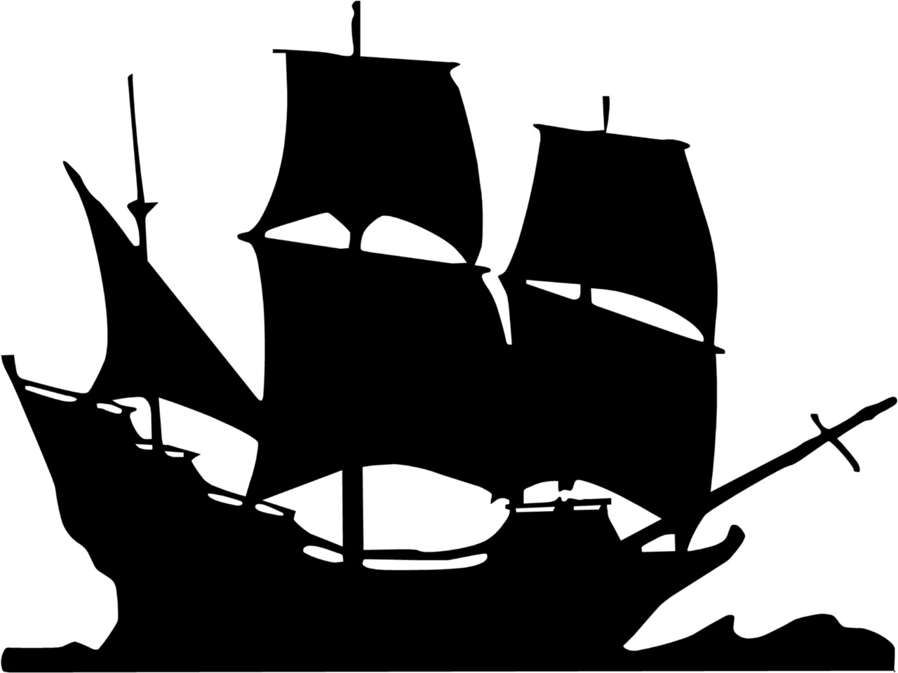 Pirate Ship Clip Art Black And White Pirate Ship Vinyl Wall Art