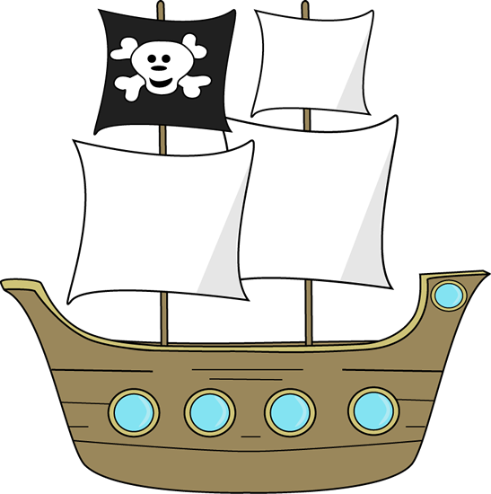 Free Black And White Pirate Clipart