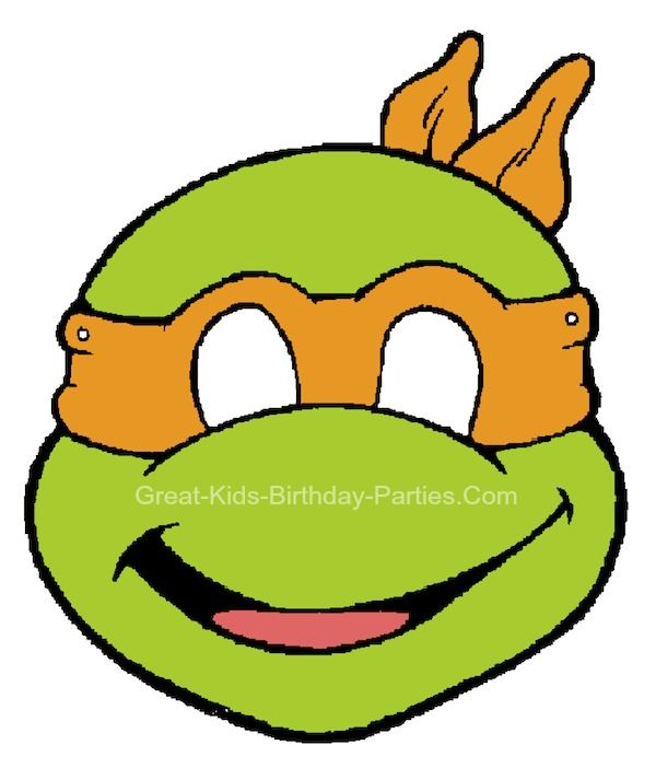 Turtles Printables Masks Ninjas Birthday Parties Clipart