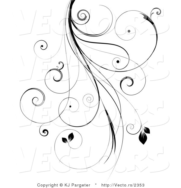 Curly Designs Clip art black background with white curly cues clipart ... Tall Pumpkin Outline Clip Art