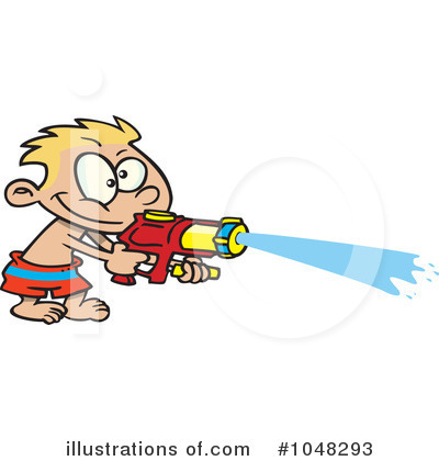 Water Gun Fight Clipart Royalty Free  Rf  Water Gun