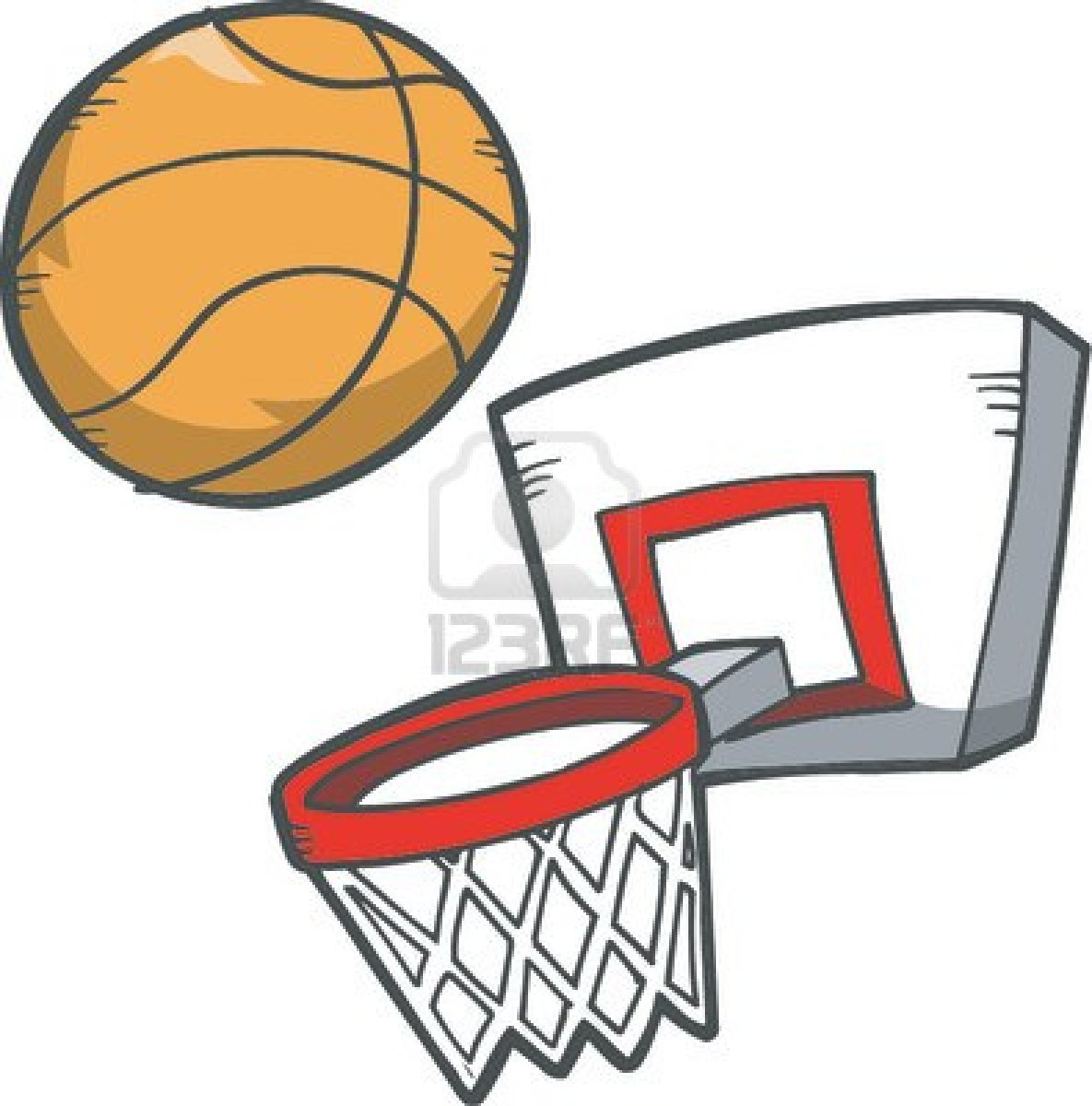 Basketball Hoop And Ball Clipart 148 X 150