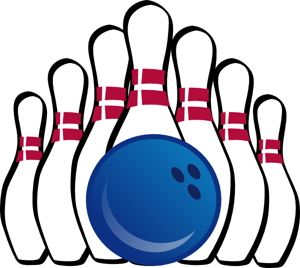 Bowling Ball And Pins Clip Art At Clker Com   Vector Clip Art Online