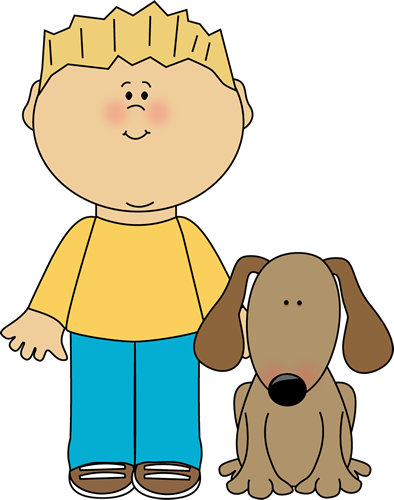 Clip Art Pet Clipart cute pet clipart kid boy with dog clip art image blond haired his dog