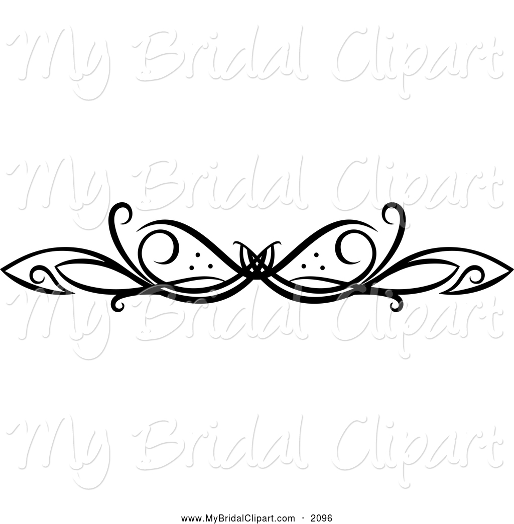 Bridal Clipart Of A Black And White Swirl Design By Seamartini