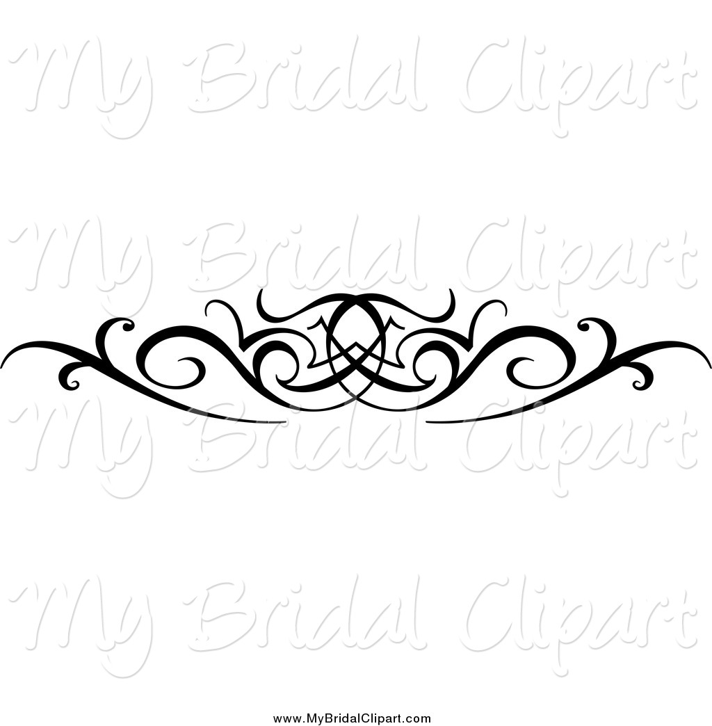 Bridal Clipart Of A Black And White Swirl Wedding Design Element By