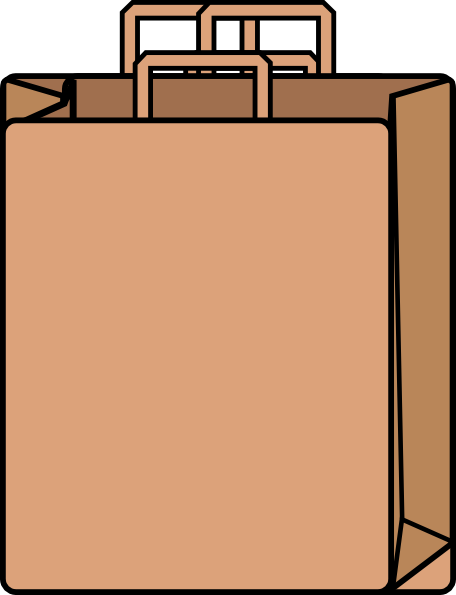 Paper grocery bag clipart