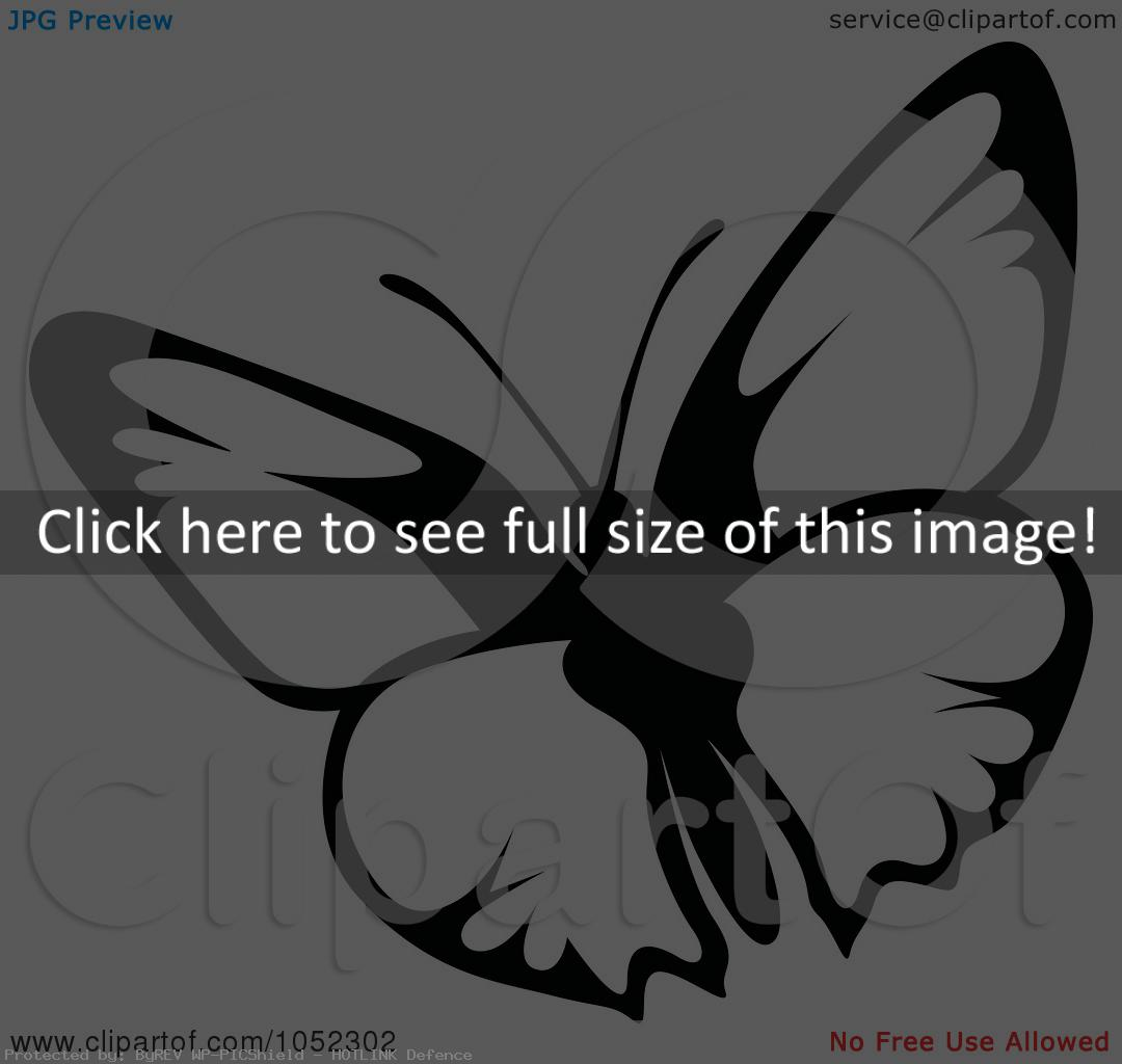 Butterfly Clip Art Black And White  Id  45774