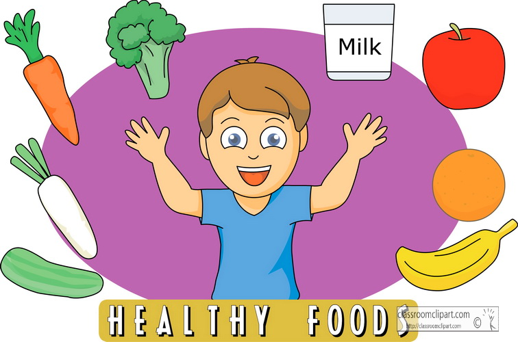 Child Eating Healthy Food Clipart Eating Healthy Food Clipart
