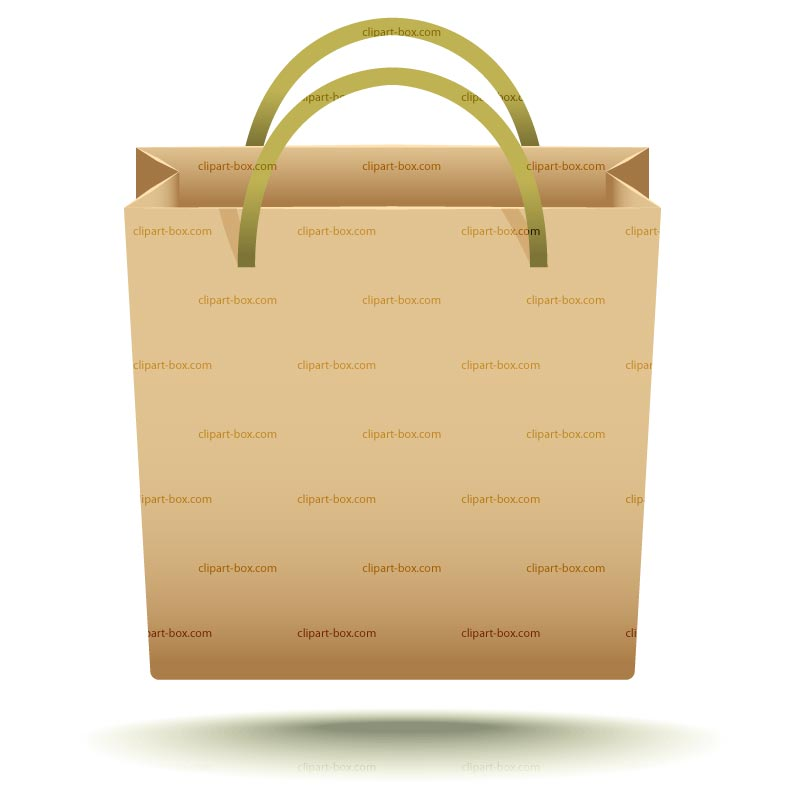 Clipart Paper Bag   Royalty Free Vector Design