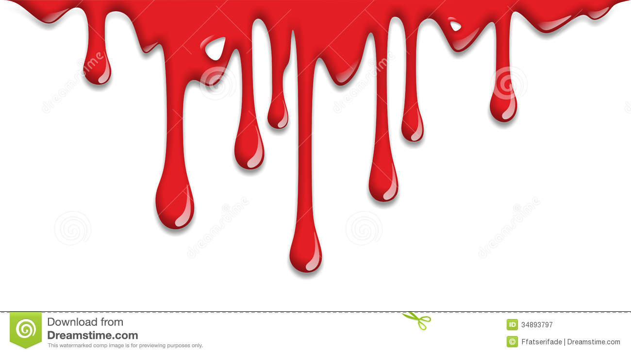 dripping blood clipart border free - photo #2