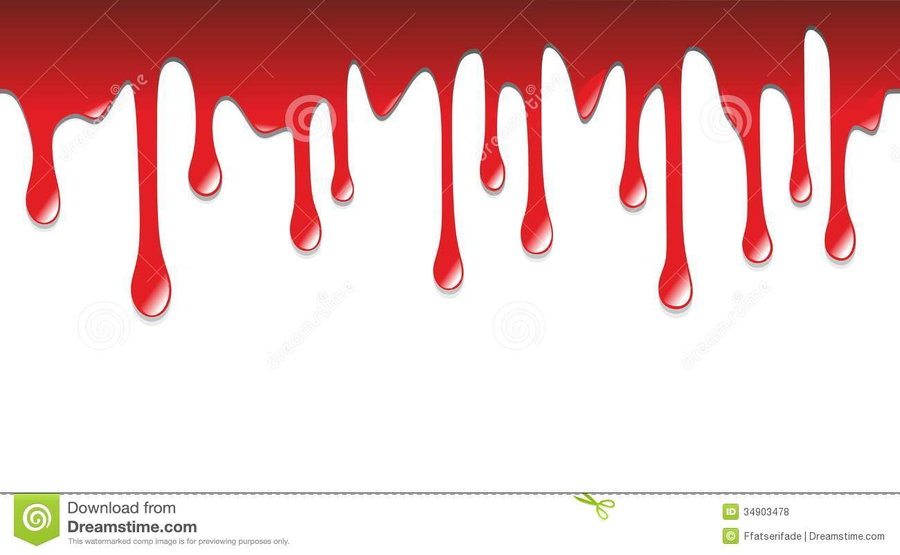 dripping blood clipart border free - photo #1