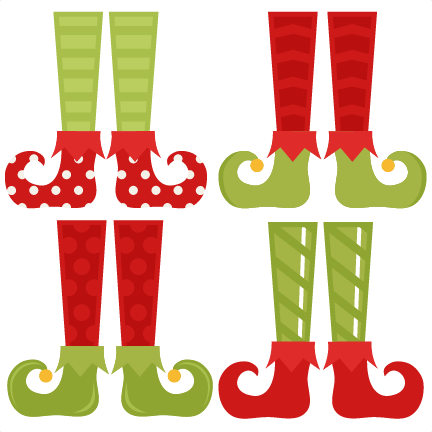 Elf Shoe Set Svg Cutting Files Christmas Svg Cuts Free Svgs Cute Cut