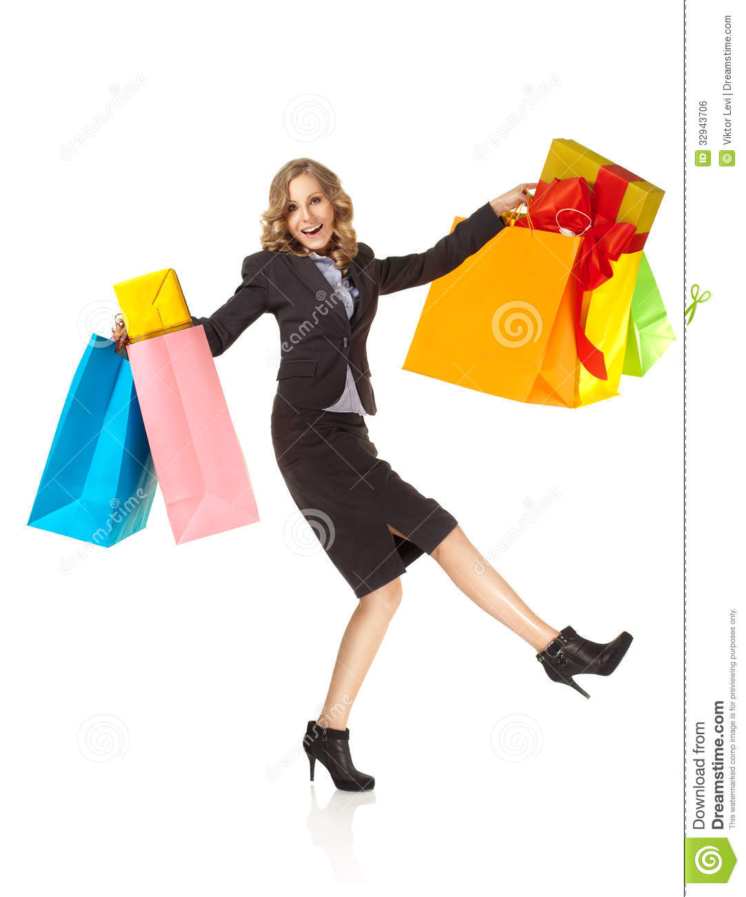 Excited Woman Clipart Excited Woman Happy Shopping