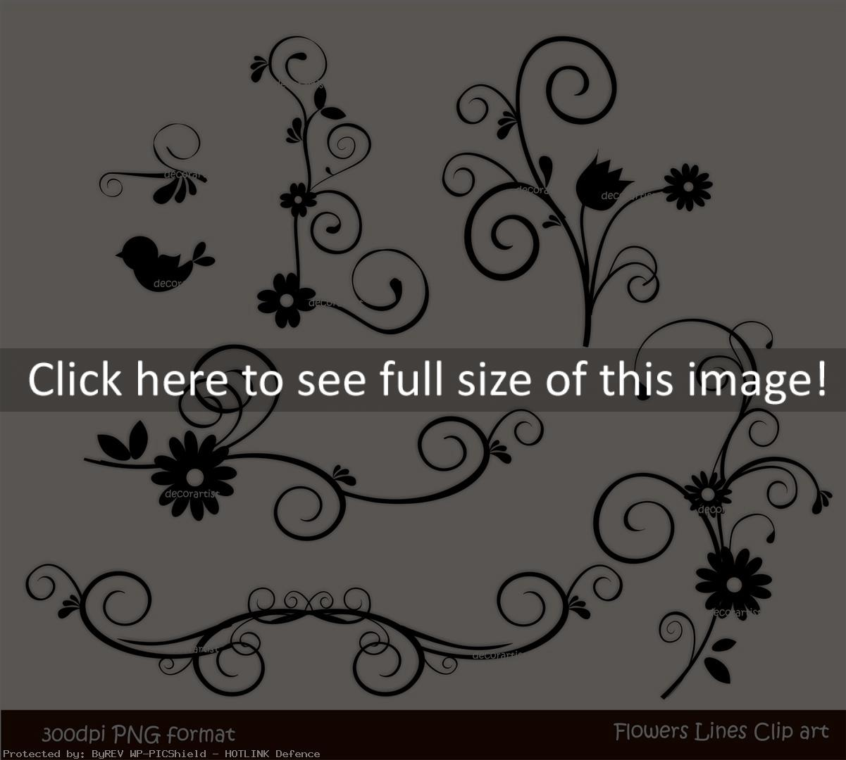 Flowers Clip Art Border Black And White  Id  95660