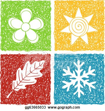 Four Seasons Doodle Icons