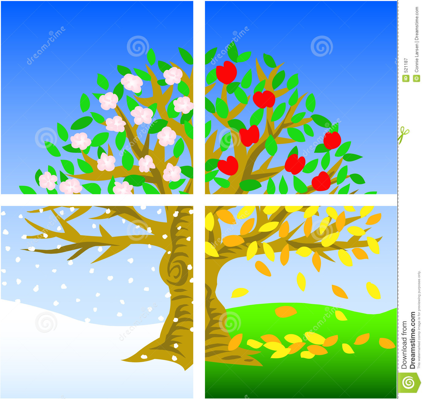 Four Seasons Tree Clipart Four Seasons Royalty Free