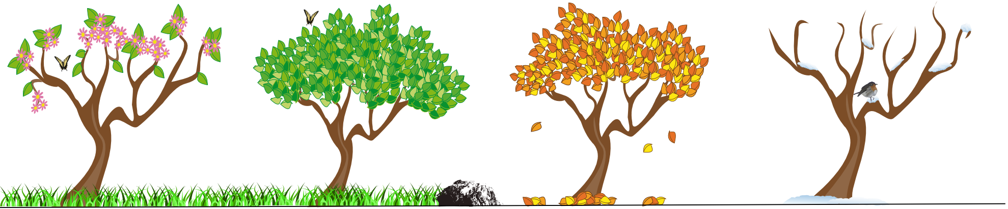 Clip Art Seasons Clipart four seasons tree clipart kid trees 2012 april clipartist net art clip clipart