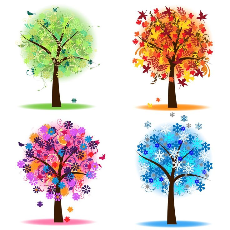 Four Seasons Trees Clipart Clip Art Spring Summer Winter Fall Autumn