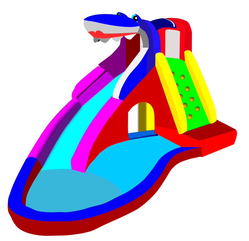 Free Cartoon Water Slide Clip Art