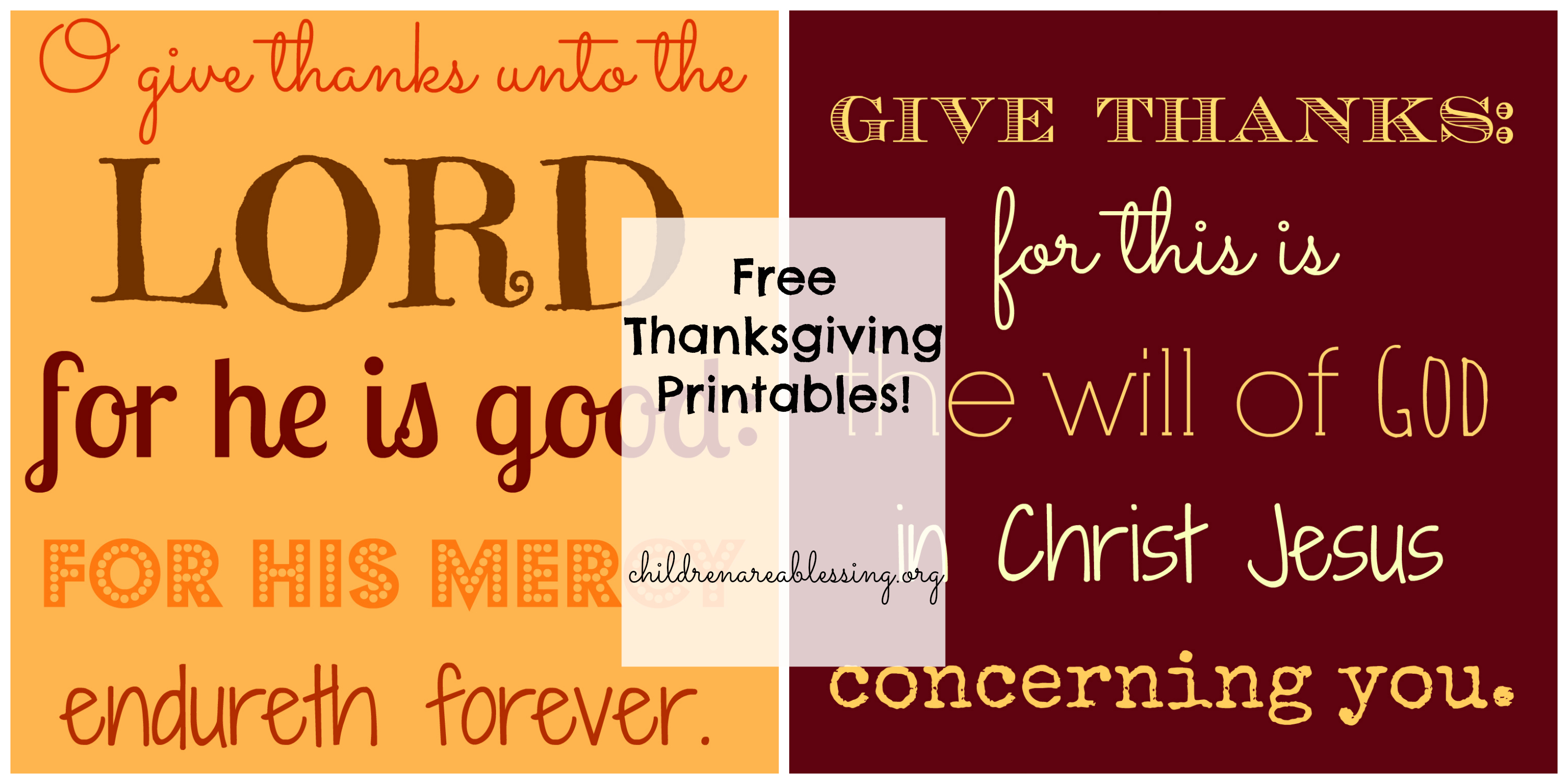 Free Thanksgiving Printables   Children Are A Blessing