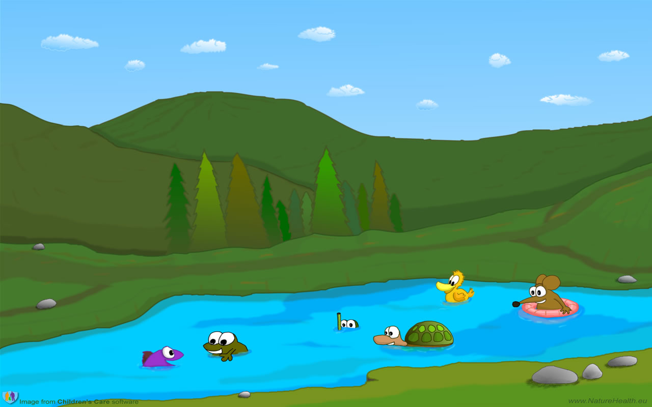 Cartoon Lake Clipart - Clipart Kid