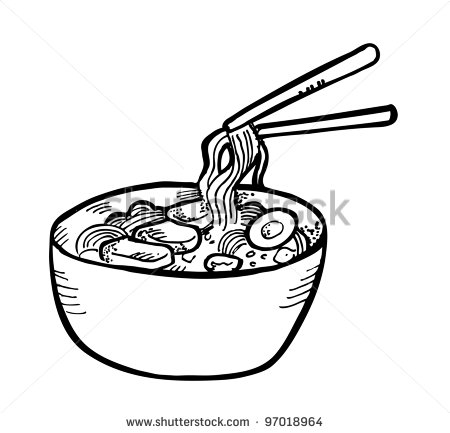 Noodles Clipart Black And White