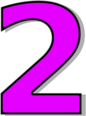 Number 2 Purple    Signs Symbol Alphabets Numbers Outlined Numbers