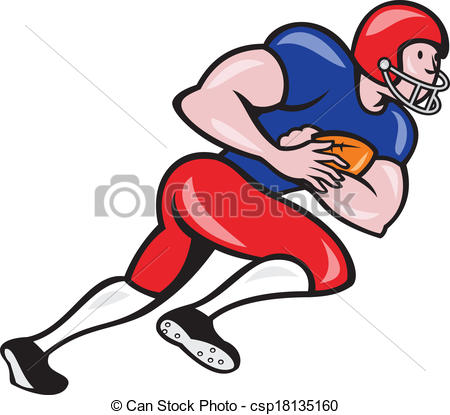 Of An American Football Gridiron Running Back Player Running