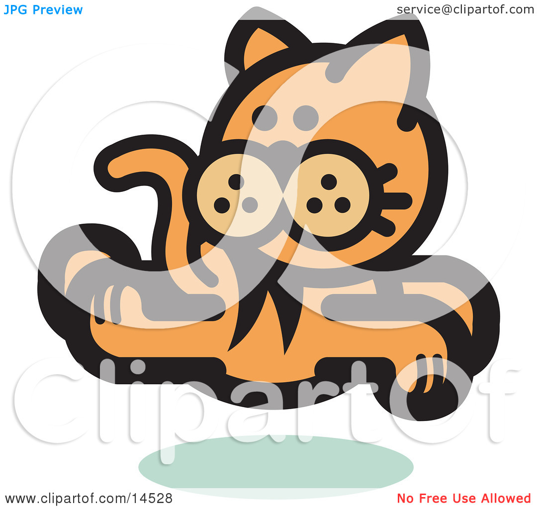 Orange Cat Running And Looking Back Clipart Illustration By Andy