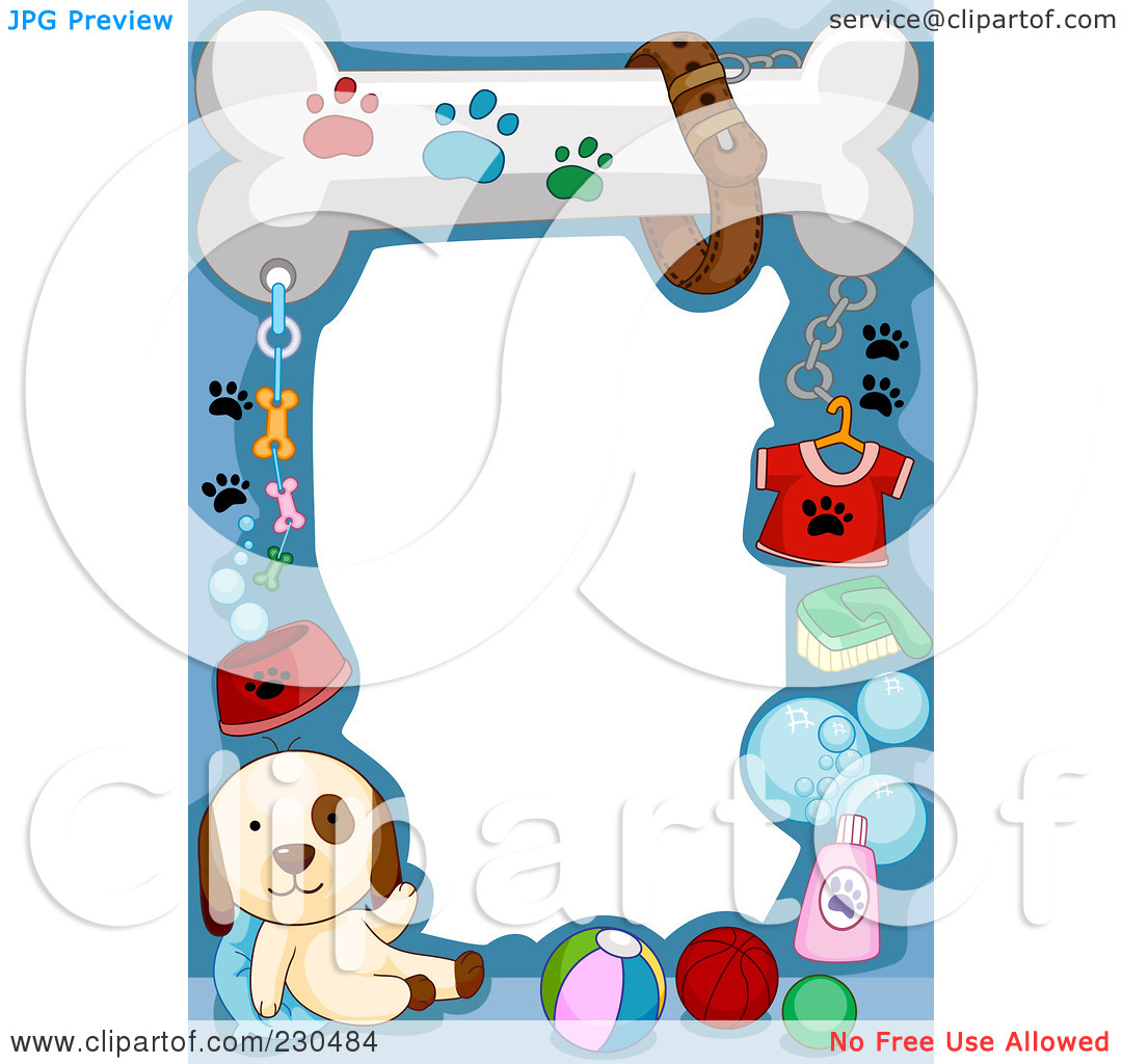 Royalty Free  Rf  Clipart Illustration Of A Cute Animal Border Of A