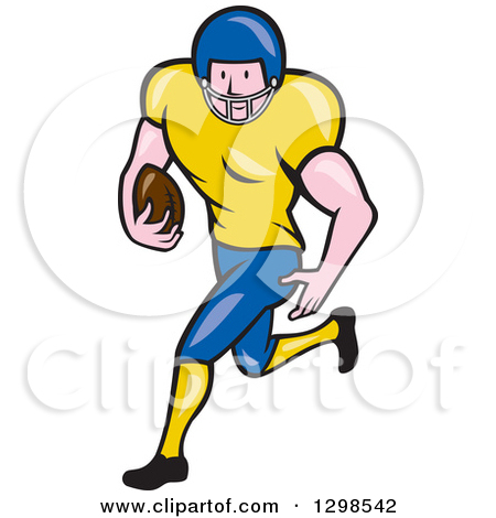 Royalty Free  Rf  Running Back Clipart   Illustrations  1