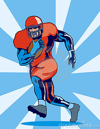 Running Back Clipart American Fooball Running Back