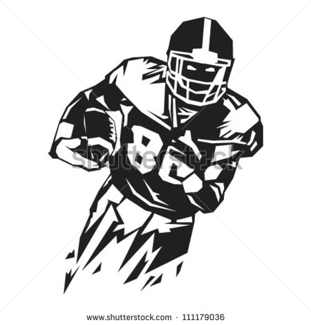 Running Back Clipart Running Back   Stock Vector