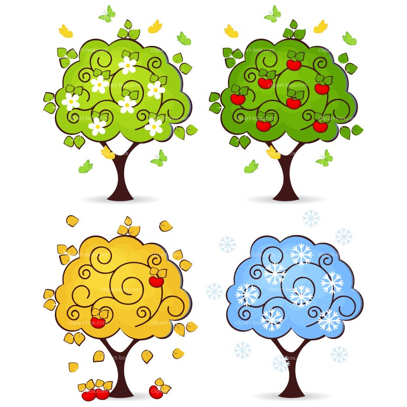 Seasons Trees Clipart Clipart Trees 4 Seasons