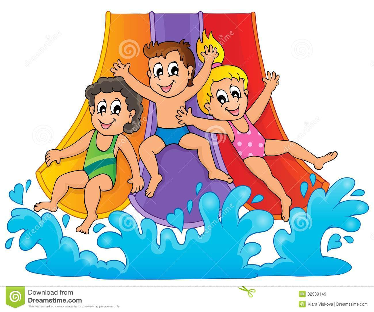 Slip And Slide Water Clipart