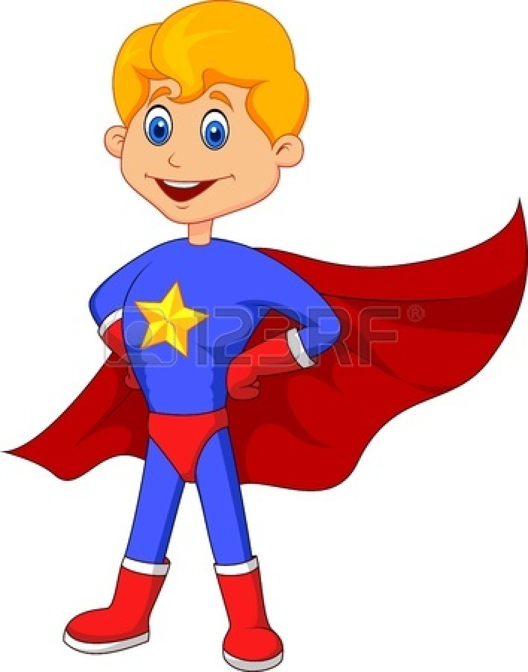 Superman Cape Clipart 19583269 Superhero Kid Cartoon Jpg