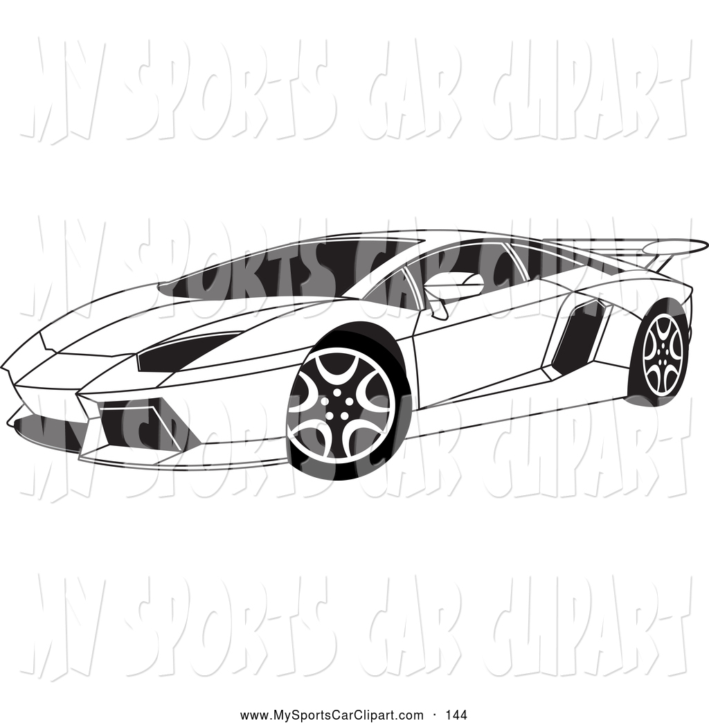black sports car clipart - photo #18