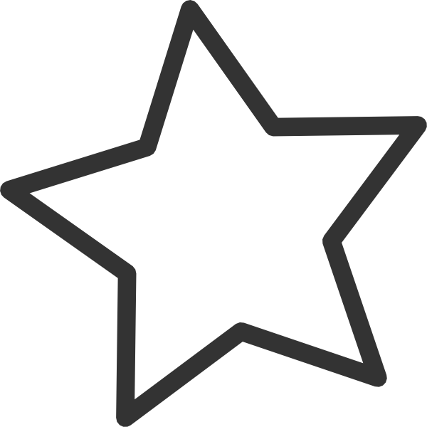 Black And White Star Clipart - Clipart Kid